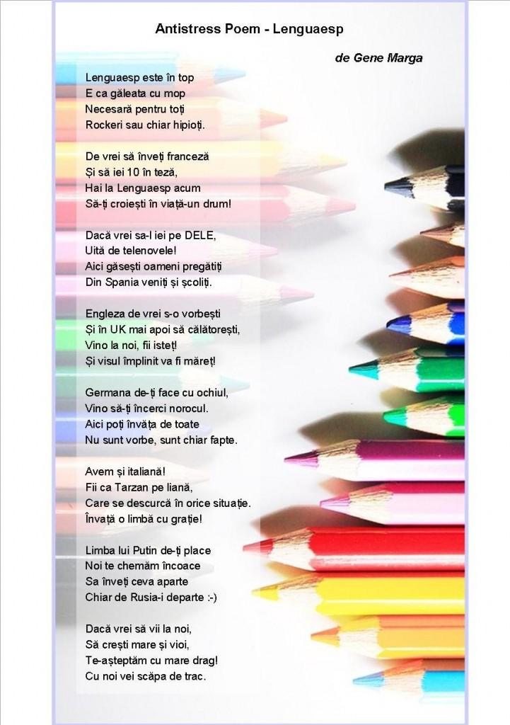 Antistress poem Lenguaesp